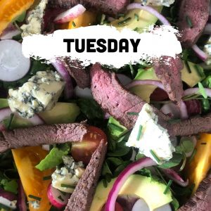 Tuesday - Steak & Stilton Salad Tray