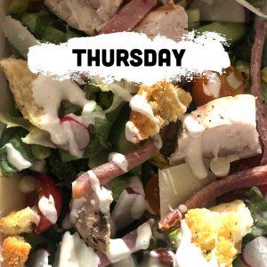 Thursday - Chicken & Bacon Caesar Salad Tray