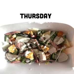 Thursday - Chicken & Bacon Caesar Salad Tray